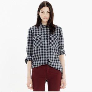 Madewell Buffalo Check Ex-Boyfriend Flannel Shirt